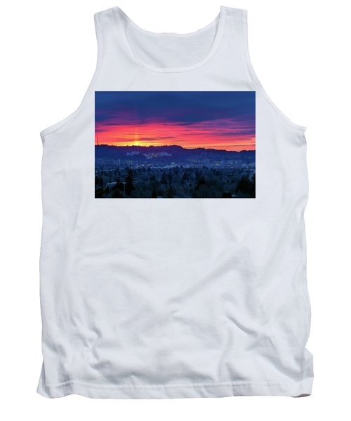 Sunset Over Marquam Hill Tank Top