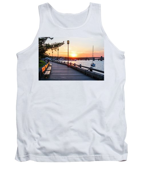 Sunset Over Newburyport Ma Merrimack River Newburyport Turnpike Tank Top