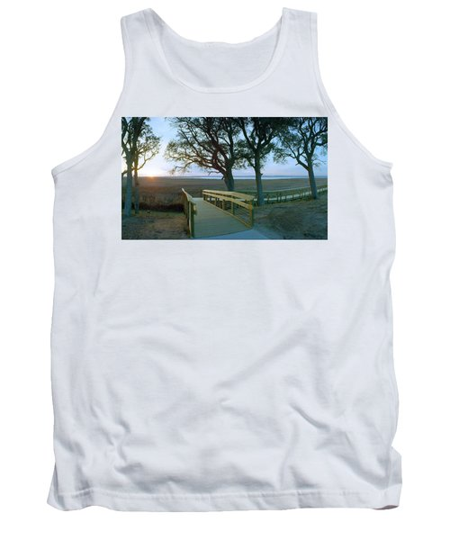 Sunset Over The Sound Tank Top by Jan W Faul