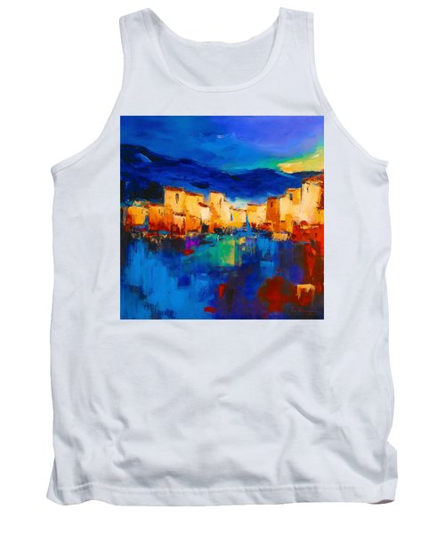 Sunset Over The Village Tank Top