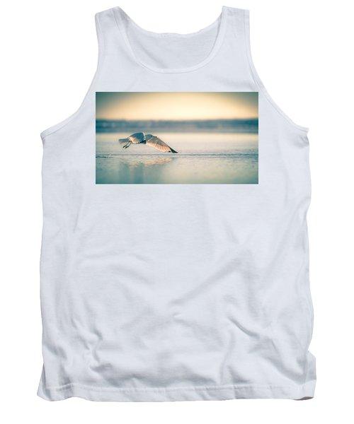 Sunset Seagull Takeoffs Tank Top