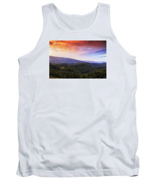 Tank Top featuring the photograph Sunset View Of The Blue Ridge by Andrew Soundarajan
