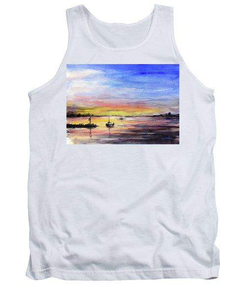 Sunset Watercolor Downtown Kirkland Tank Top