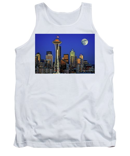 Super Moon Over Seattle Tank Top