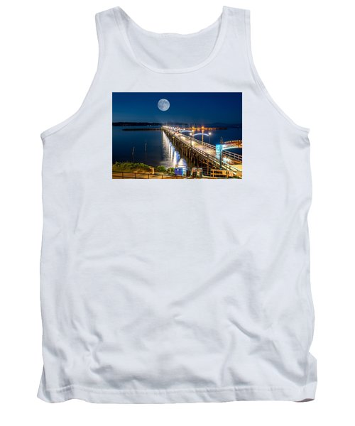 Tank Top featuring the photograph Super Moon Over White Rock by Sabine Edrissi
