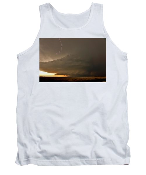 Supercell In Kansas Tank Top by Ed Sweeney