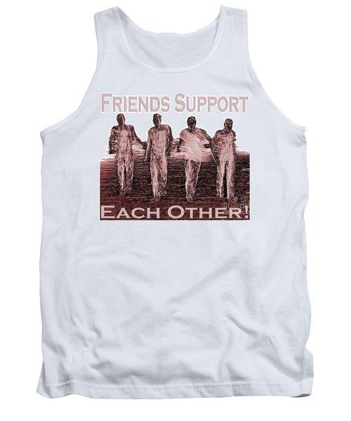 Support Friends In Bronze Tank Top