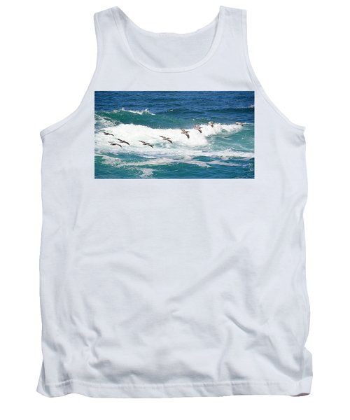 Surf And Pelicans Tank Top