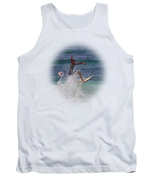 Surf Dude On Transparent Background Tank Top