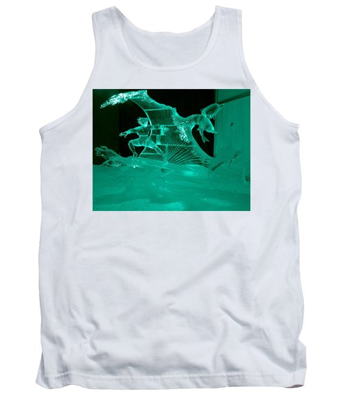 Surfing With Dolphins Tank Top by Betty-Anne McDonald