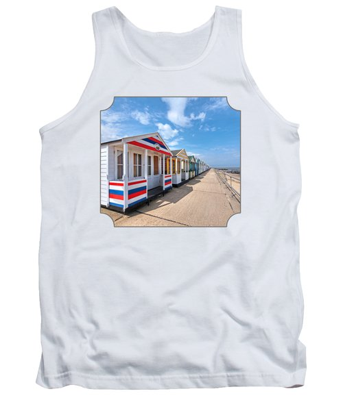 Surf's Up - Colorful Beach Huts Tank Top
