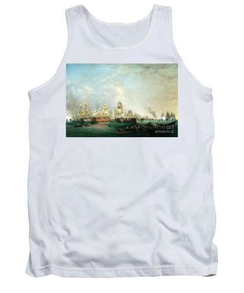 Surrender Of The Santissima Trinidad To Neptune The Battle Of Trafalgar Tank Top
