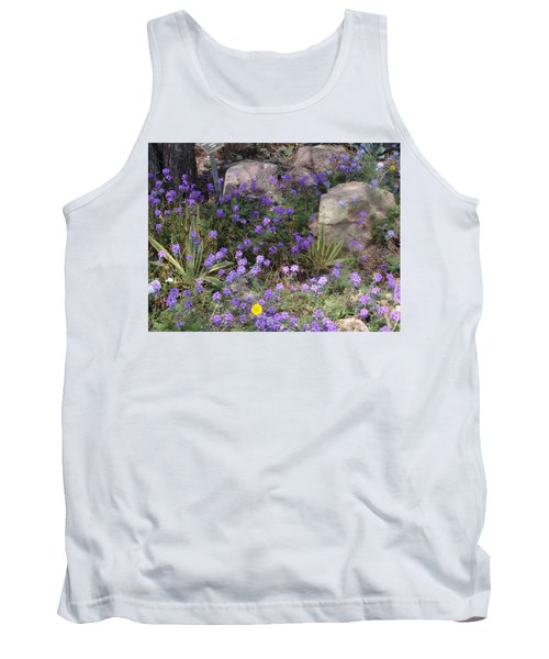 Surrounded By Purple Flowers Tank Top