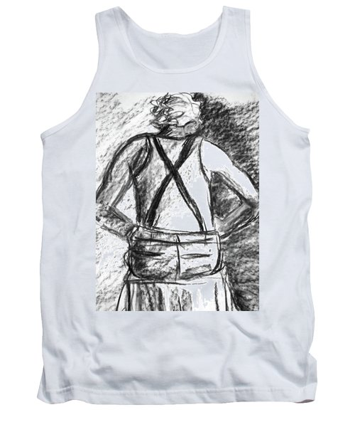 Tank Top featuring the painting Suspenders by Cathie Richardson