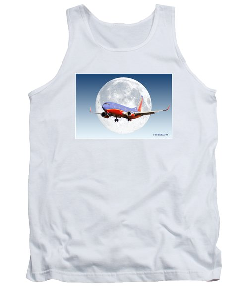 Sw Moon Tank Top by Brian Wallace