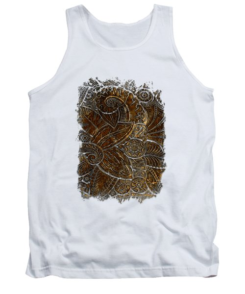 Swan Dance Earthy 3 Dimensional Tank Top by Di Designs