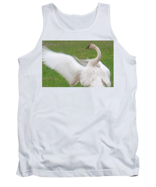 Tank Top featuring the photograph Swan Posing by Karen Molenaar Terrell
