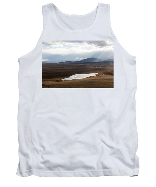 Sweeping Plain And A Small Lake Between Mountain Foothills Near Fairplay In Park County Tank Top by Carol M Highsmith