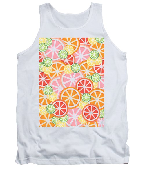 Sweet And Sour Citrus Print Tank Top