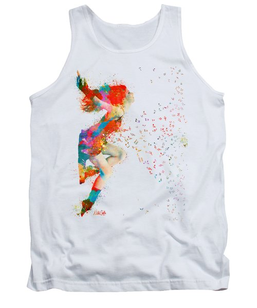 Sweet Jenny Bursting With Music Tank Top by Nikki Smith
