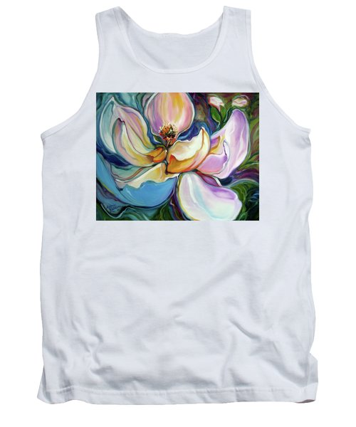 Sweet Magnoli Floral Abstract Tank Top
