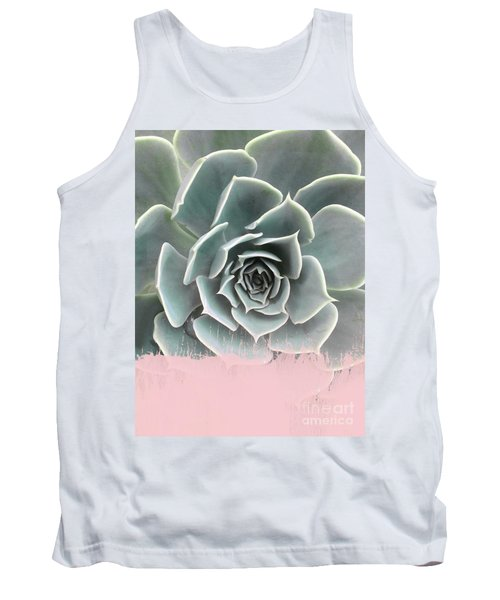 Sweet Pink Paint On Succulent Tank Top