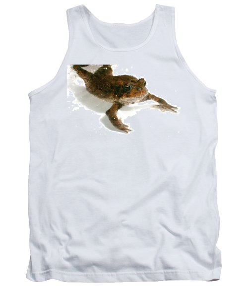 Tank Top featuring the digital art Swimming Toad by Barbara S Nickerson