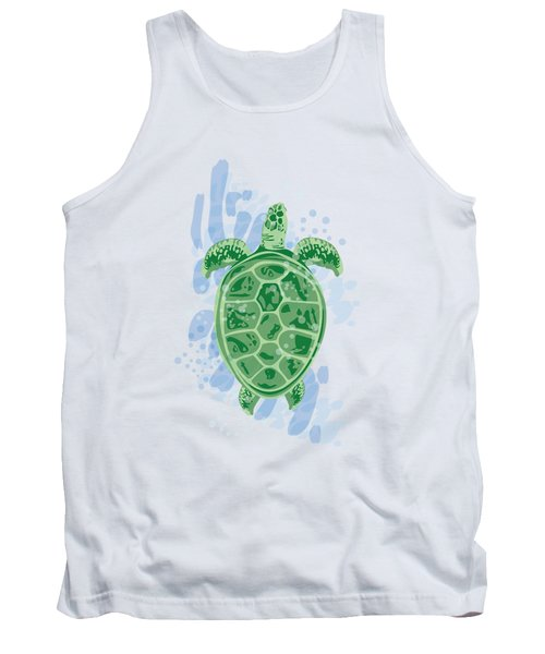 Swimming Turtle Tank Top