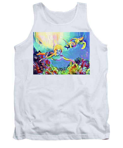Swimming With Turtles Tank Top