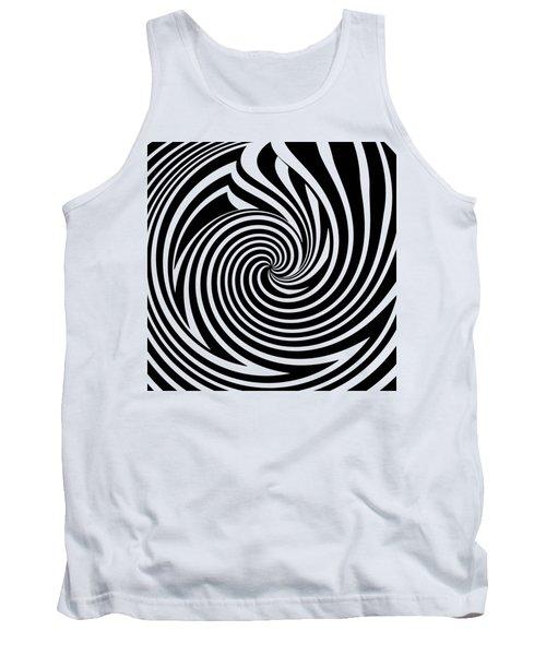 Swirl Op Art Tank Top