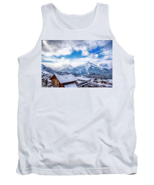 Swiss Alps Tank Top by Pravine Chester