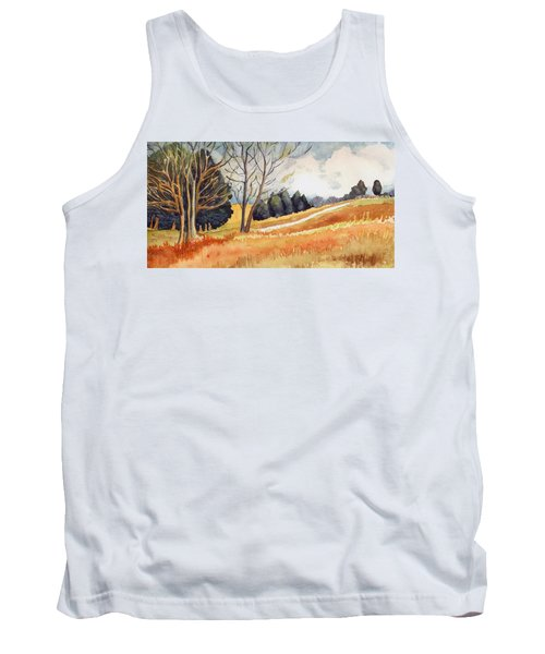 Tank Top featuring the painting Switchboard Rd by Katherine Miller