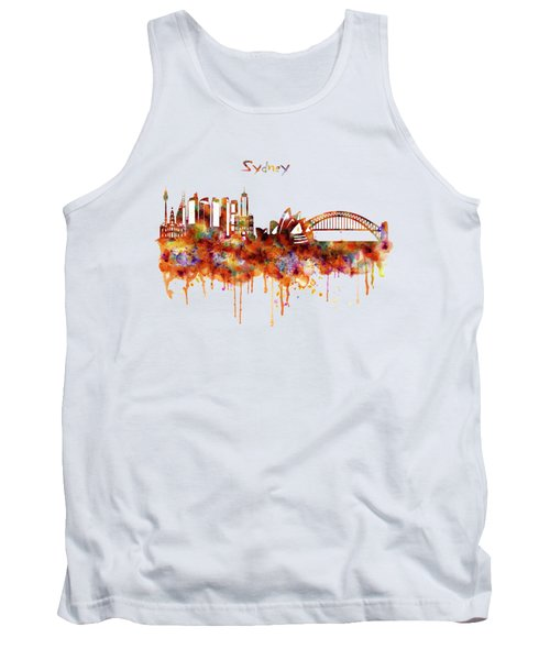Sydney Watercolor Skyline Tank Top