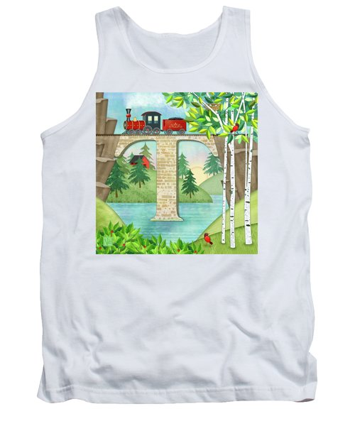 T Is For Train And Train Trestle Tank Top