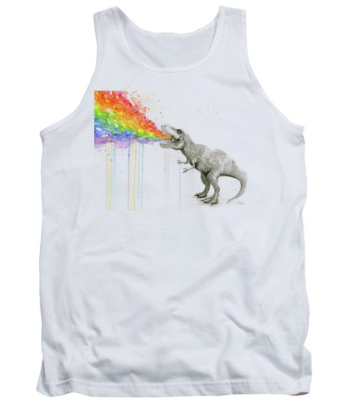 T-rex Tastes The Rainbow Tank Top