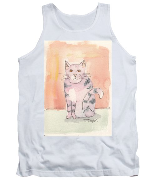 Tank Top featuring the painting Tabby by Terry Taylor