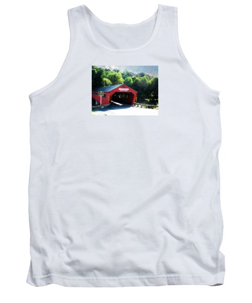 Tank Top featuring the photograph Taftsville Covered Bridge by Robin Regan