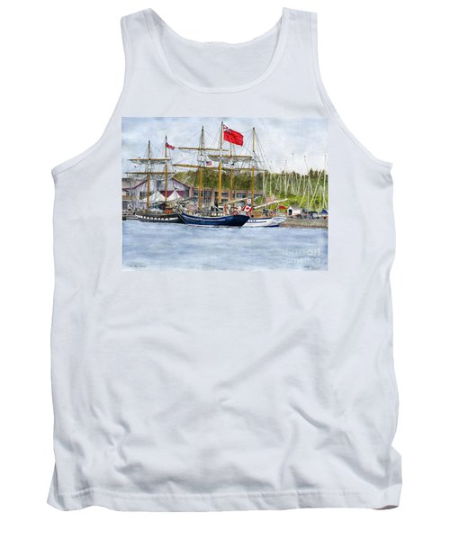Tank Top featuring the painting Tall Ships Festival by Melly Terpening