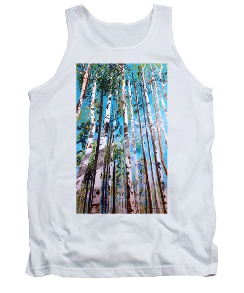 Tank Top featuring the painting Tall Whites by Patti Ferron