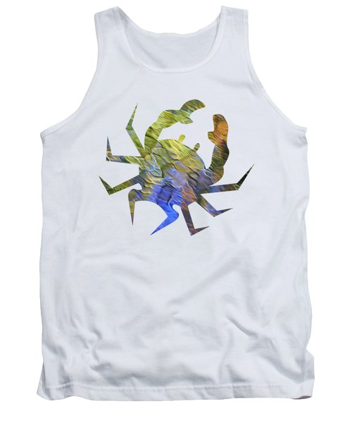 Tank Top featuring the photograph Tangerine Twist Mosaic Abstract Art by Christina Rollo