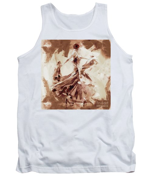 Tank Top featuring the painting Tango Dance 9910j by Gull G