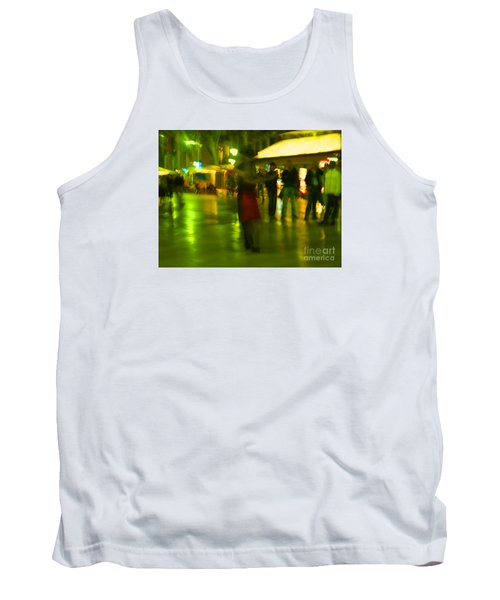 Tank Top featuring the mixed media Tango Dance In Rain by Haleh Mahbod