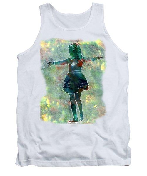 Tap Dancer 2 - Green Tank Top by Lori Kingston