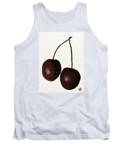 Tasty Red Cherries Tank Top by Zilpa Van der Gragt