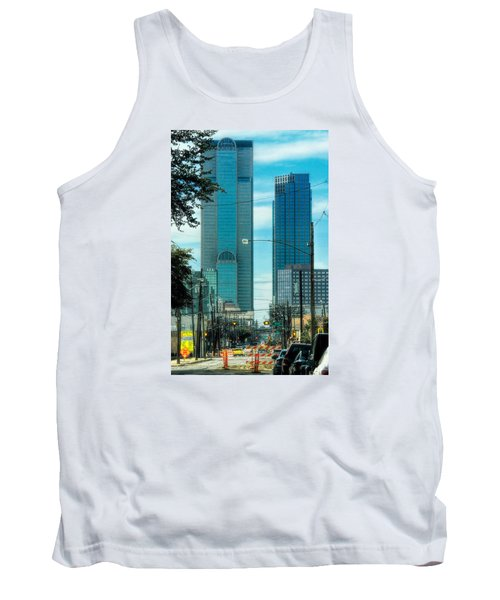 Tank Top featuring the photograph Tax Dollars At Work by Joan Bertucci