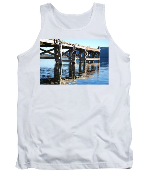 Tank Top featuring the photograph Te Anau Pier by Jocelyn Friis