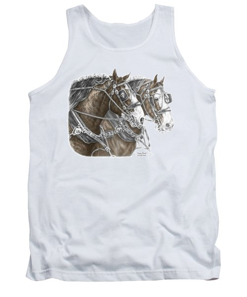 Team Work - Clydesdale Draft Horse Print Color Tinted Tank Top