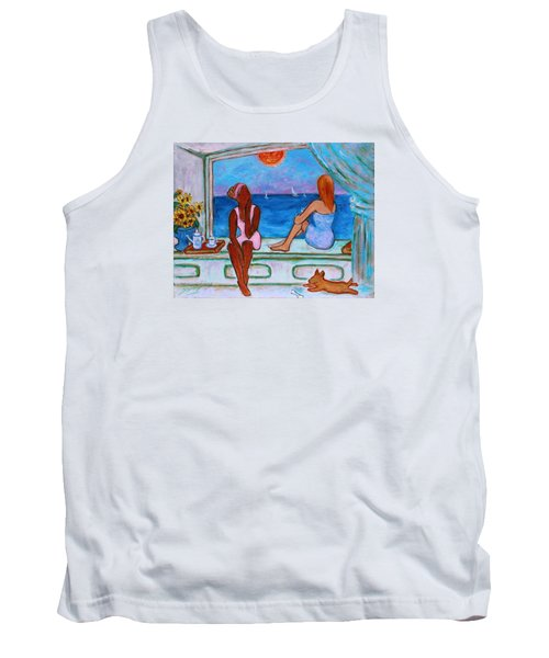 Tank Top featuring the painting Teatime I by Xueling Zou