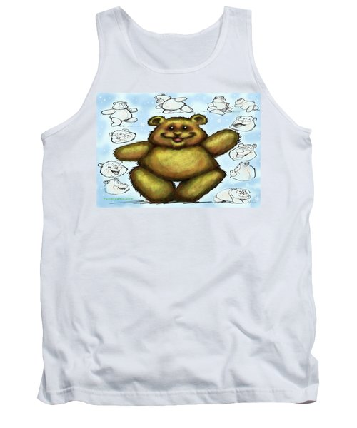 Tank Top featuring the painting Teddy Bear by Kevin Middleton