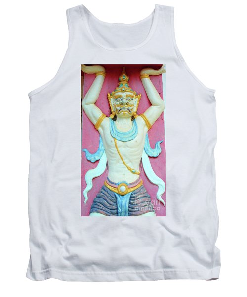 Temple Art In Thailand Tank Top